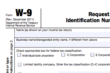 Form W9 and 1099 For Indepedent Contractors