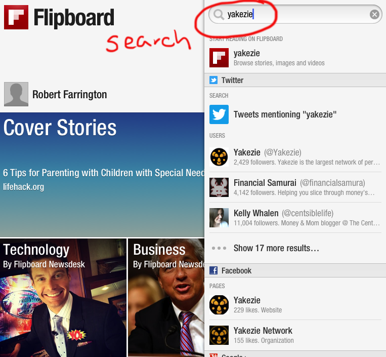 Flipboard Search