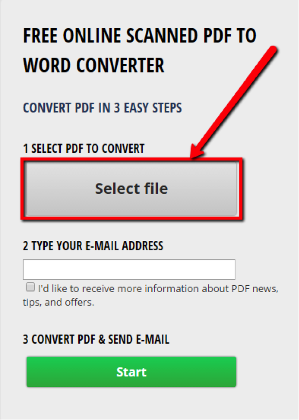 Scanned pdf to word converter online free without email