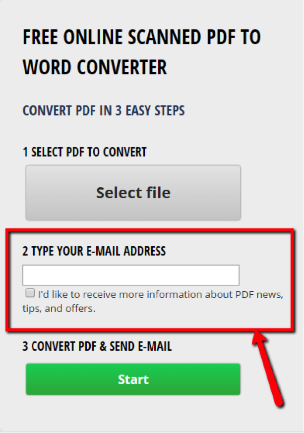 scanned pdf to text online free