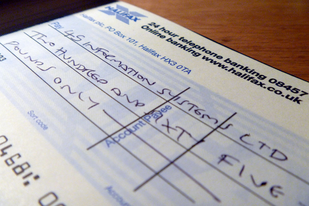 Cheque payment