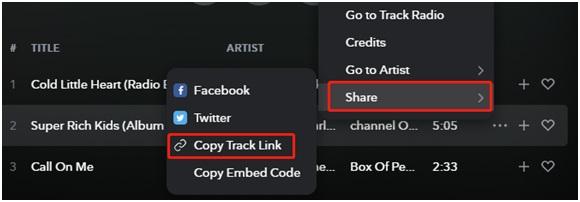 track link